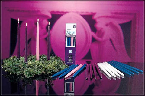 "Advent Home 12"" Tapers Bulk [purple, blue, pink and white]"