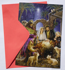 Shining Light Advent Calendar - Medium Advent Calendar with Envelope