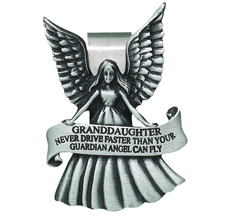 Granddaughter Never Drive Faster Than Your Guardian Angel Can Fly Visor Clip