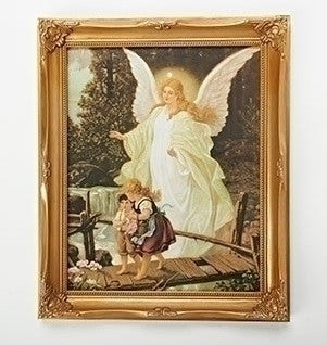 "12"" Framed Guardian Angel"