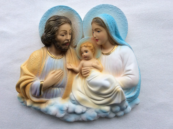 Holy Family Plaque 8""