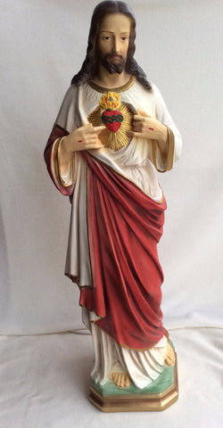 Sacred Heart of Jesus Statue 25""