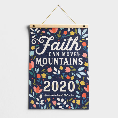 Wood Strip Calendar-2020-Faith Moves Mountains (12 x 17)