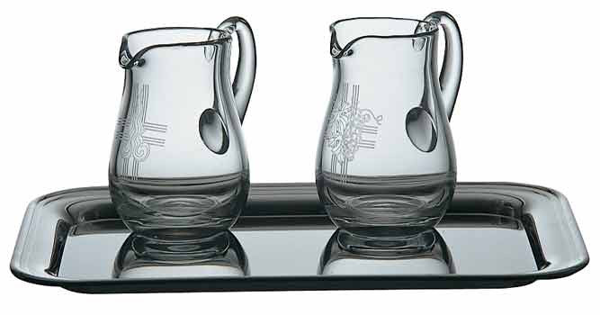 Cruets, Crystal, pair, 4 oz