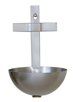 Holy Water Font, Stainless Steel