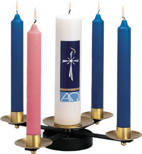 Advent Wreath with sockets