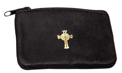 Rosary Case, Leather, Black