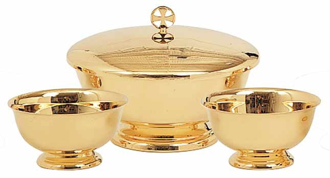 Communion Set, 3 pieces, Gold Plated