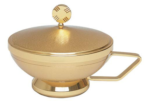 Ciborium Bowl with Cover, Two Tone Gold Plated