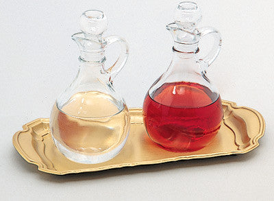 Cruet Set with Satin Brass Tray