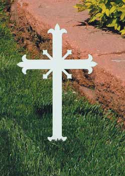 Memorial Cross, Miniature, Fleur-de-lis design