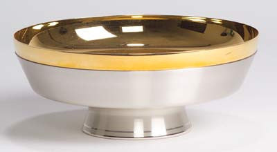 Ciborium Bowl, Soft silver plated outside