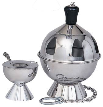 Censer and Boat, Stainless Steel