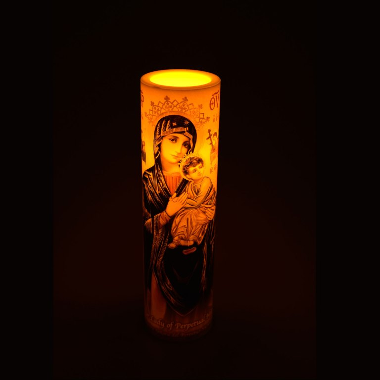 LED Candle – Our Lady of Perpetual Help