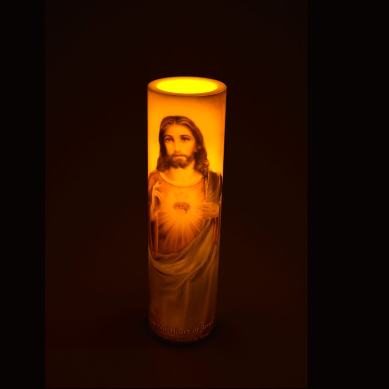 LED Candle – Sacred Heart of Jesus