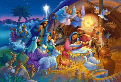 Heavenly Night Kid's Jigsaw Christmas Puzzle