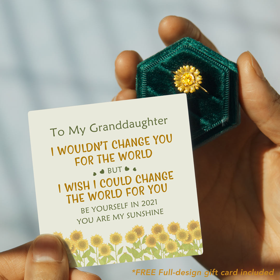 Sunflower Ring - I Would Change The World For My Granddaughter