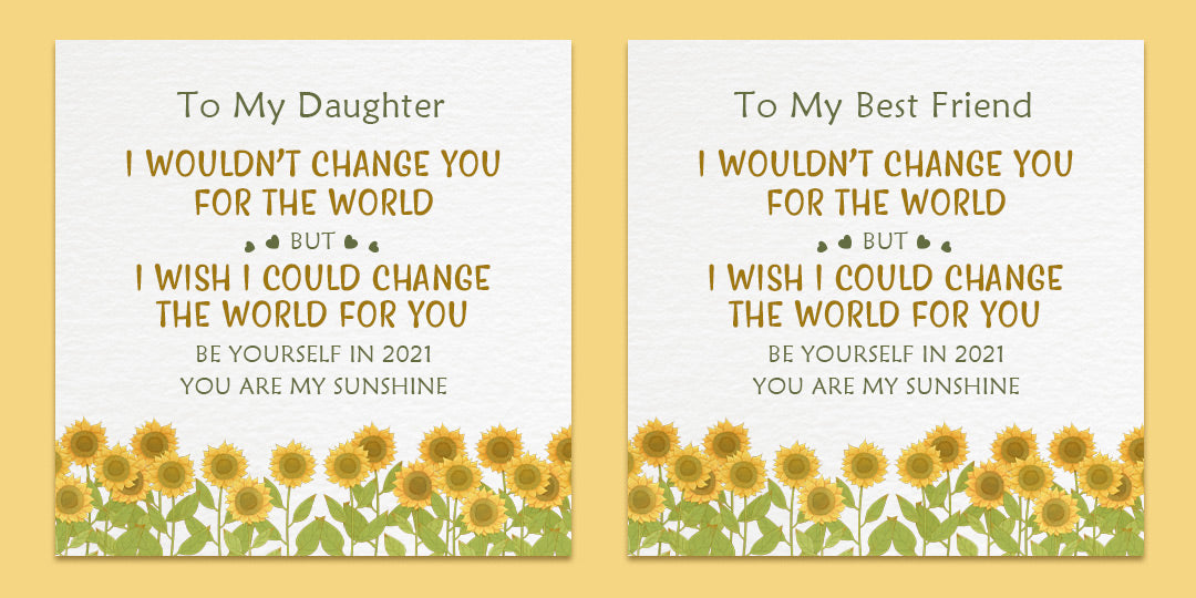 Sunflower Ring - I Would Change The World For You