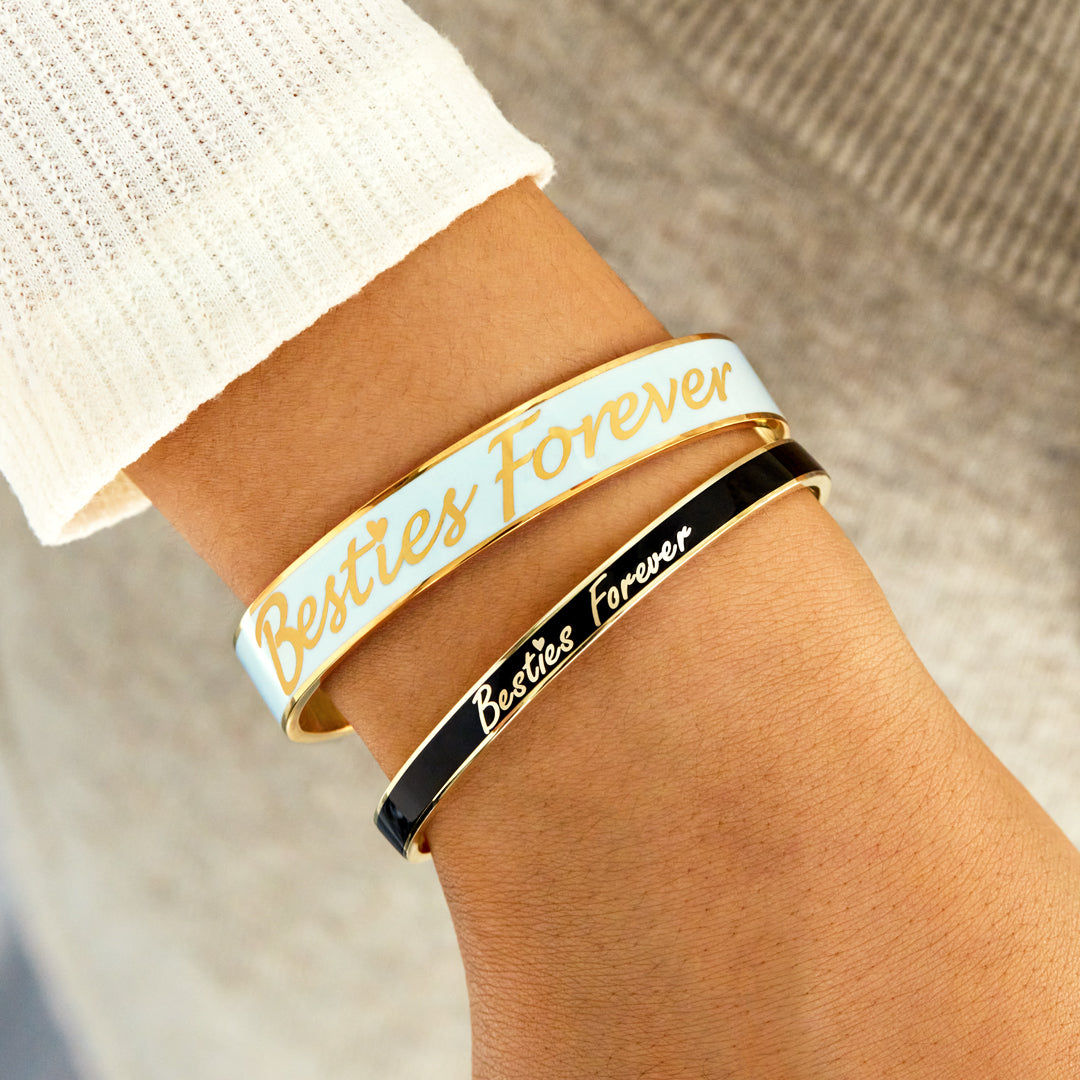 Letters Bangle - Besties Forever