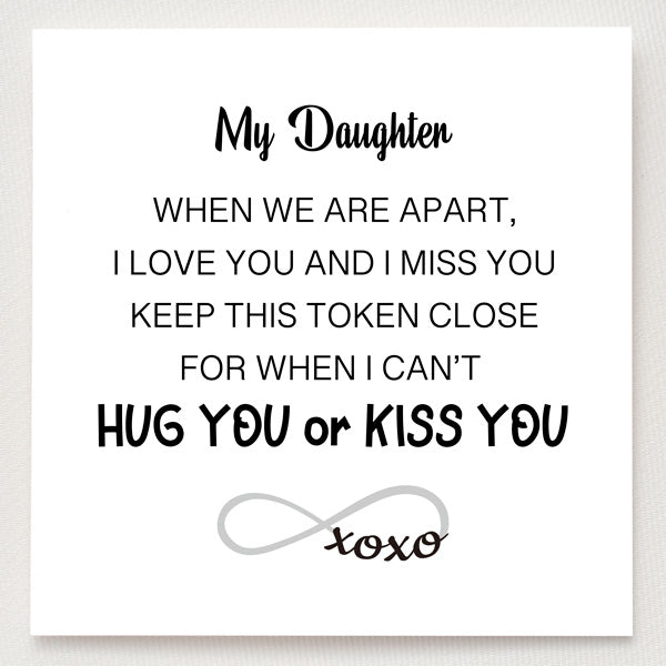 XOXO Ring-Token of Hugs and Kisses For Daughter