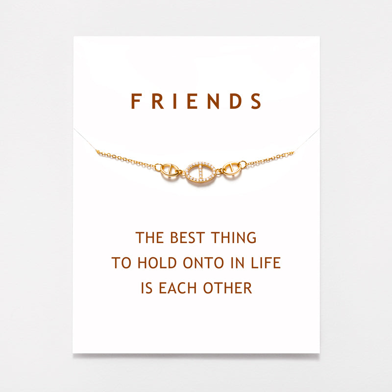 Friends Chain Link Necklace