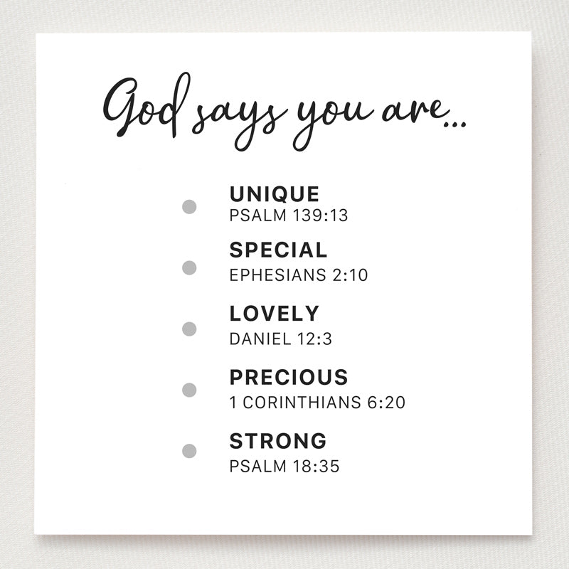 Dots Ring - God Says You Are