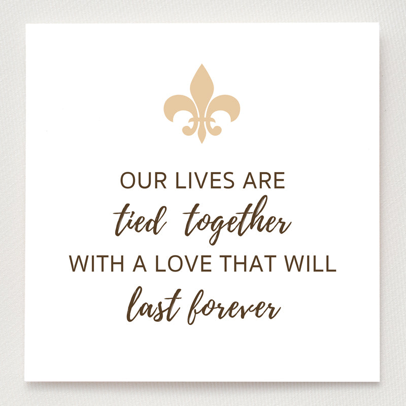 Fleur De Lis Ring - Our Lives Are Tied Together