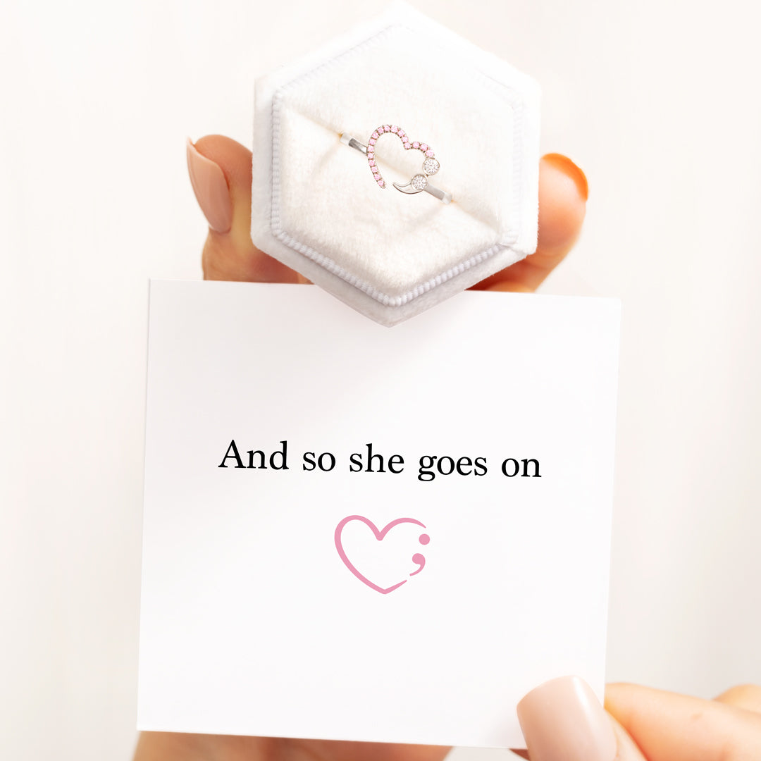 Semicolon Ring - And So She Goes On Heart