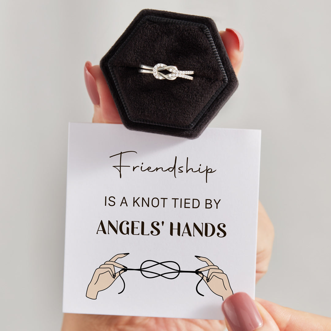 Love Knot Ring-Friendship Tied By Angels' Hands