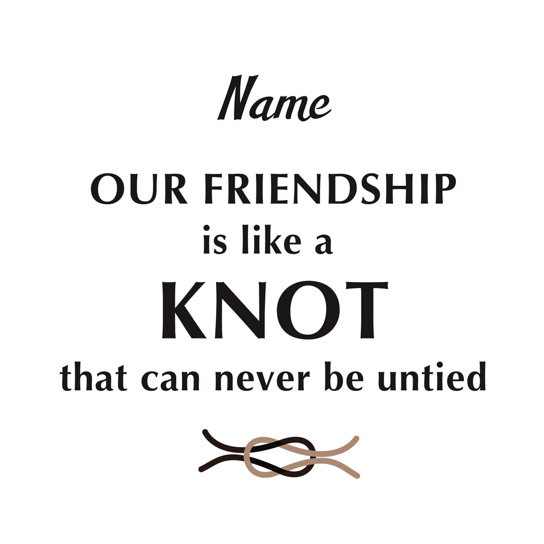 Love Knot Ring-Personalized Best Friend