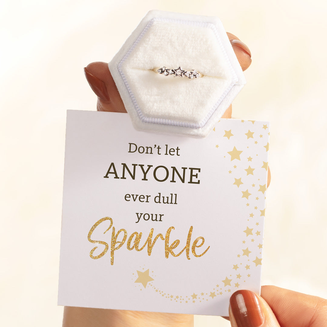 Silver Stars Ring-Don't Let Anyone Dull Your Sparkle
