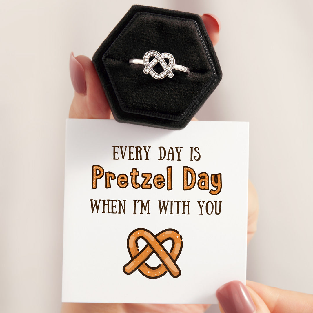 Heart Ring-Every Day Is Pretzel Day with You