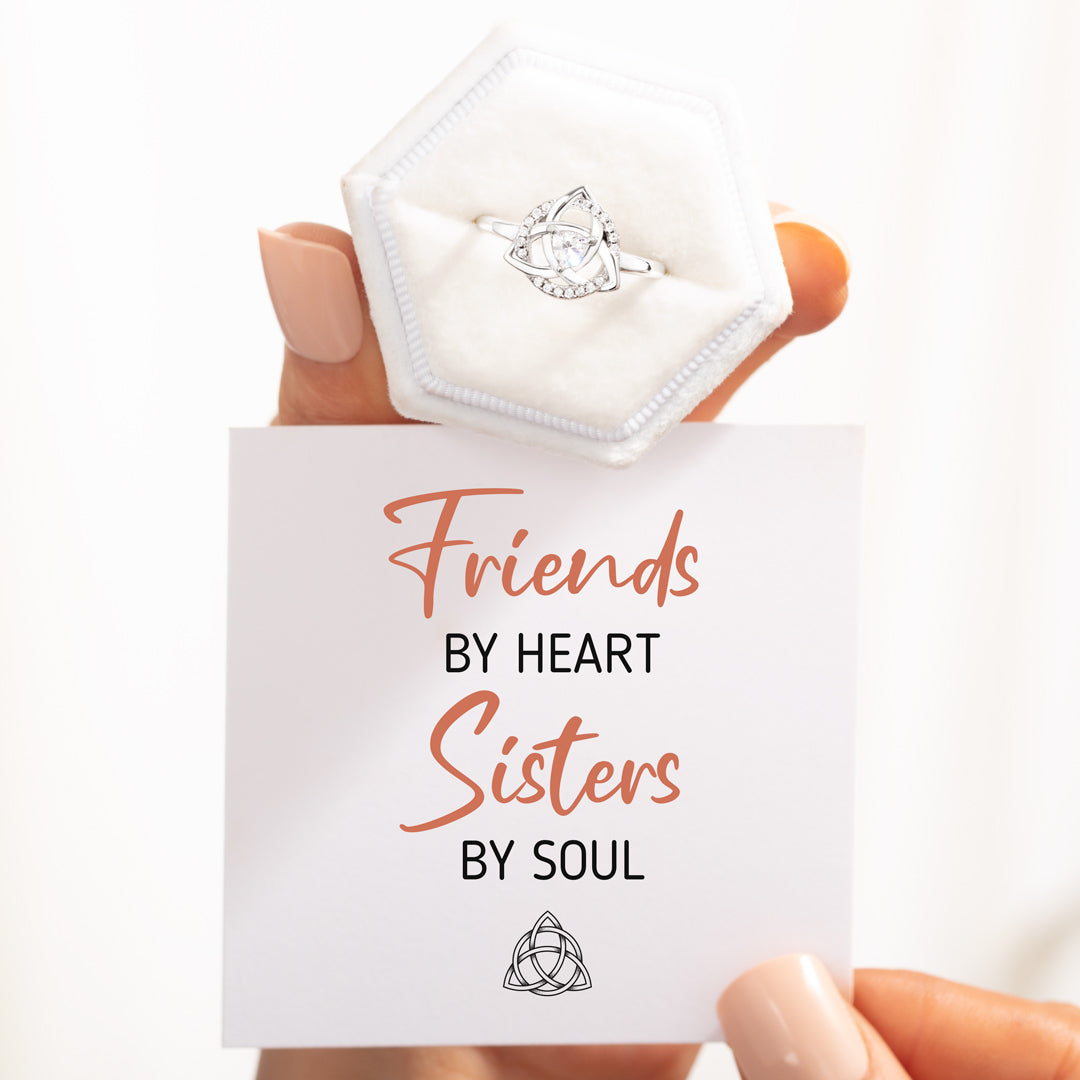 Celtic Trinity Knot Ring - Friends By Heart Sisters By Soul