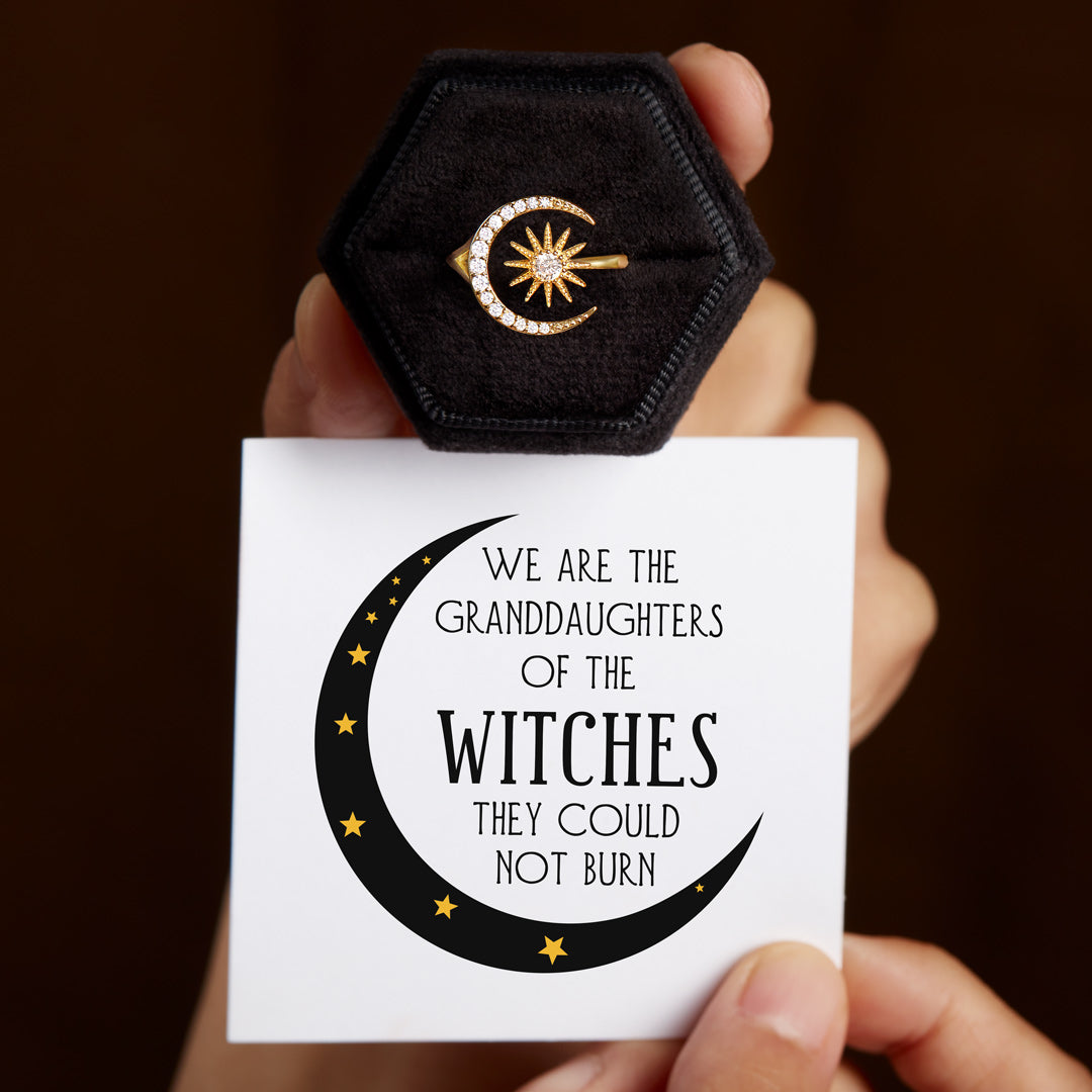 Moon & Star Ring Granddaughters of Witches Crescent