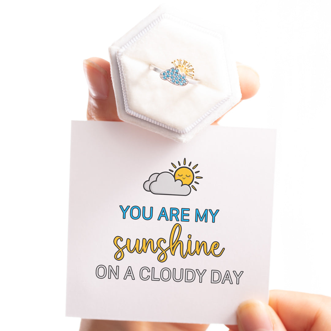 Sunny Cloud Ring - My Sunshine On A Cloudy Day