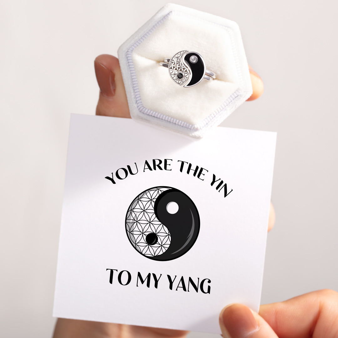You Are the Yin To My Yang Ring Set