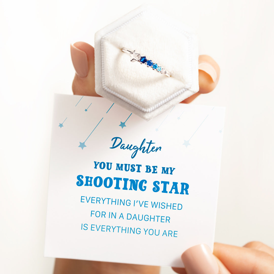 Daughter You're My Shooting Star Ring