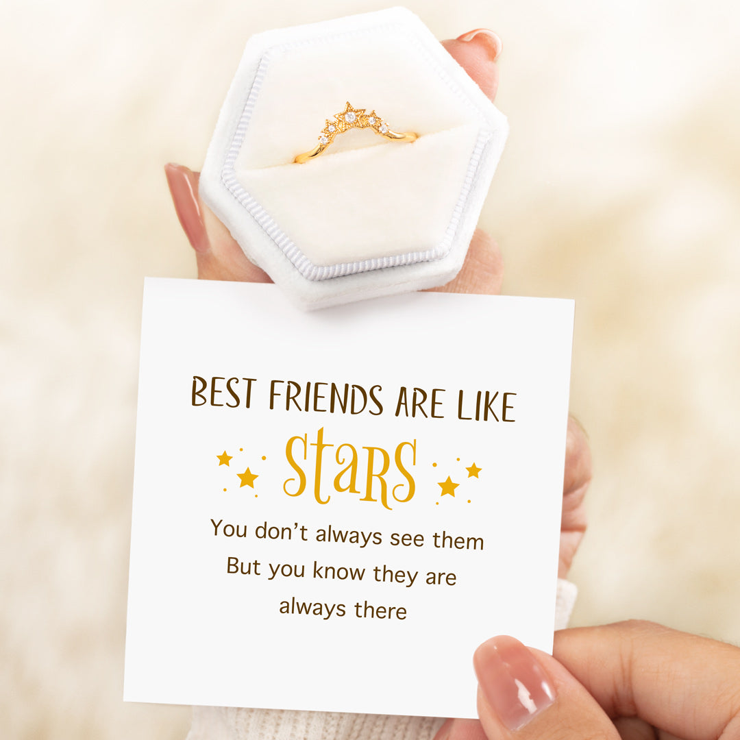 best friends are like stars ring