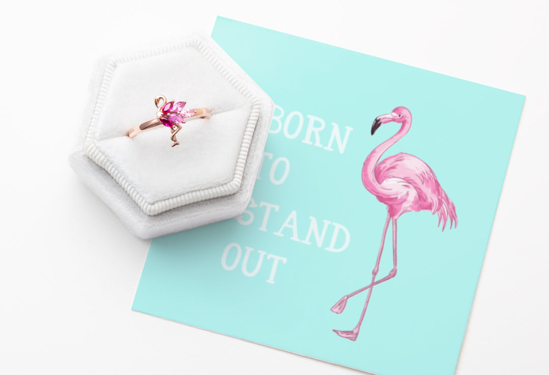 Flamingo Rose Gold Ring - Born To Stand Out