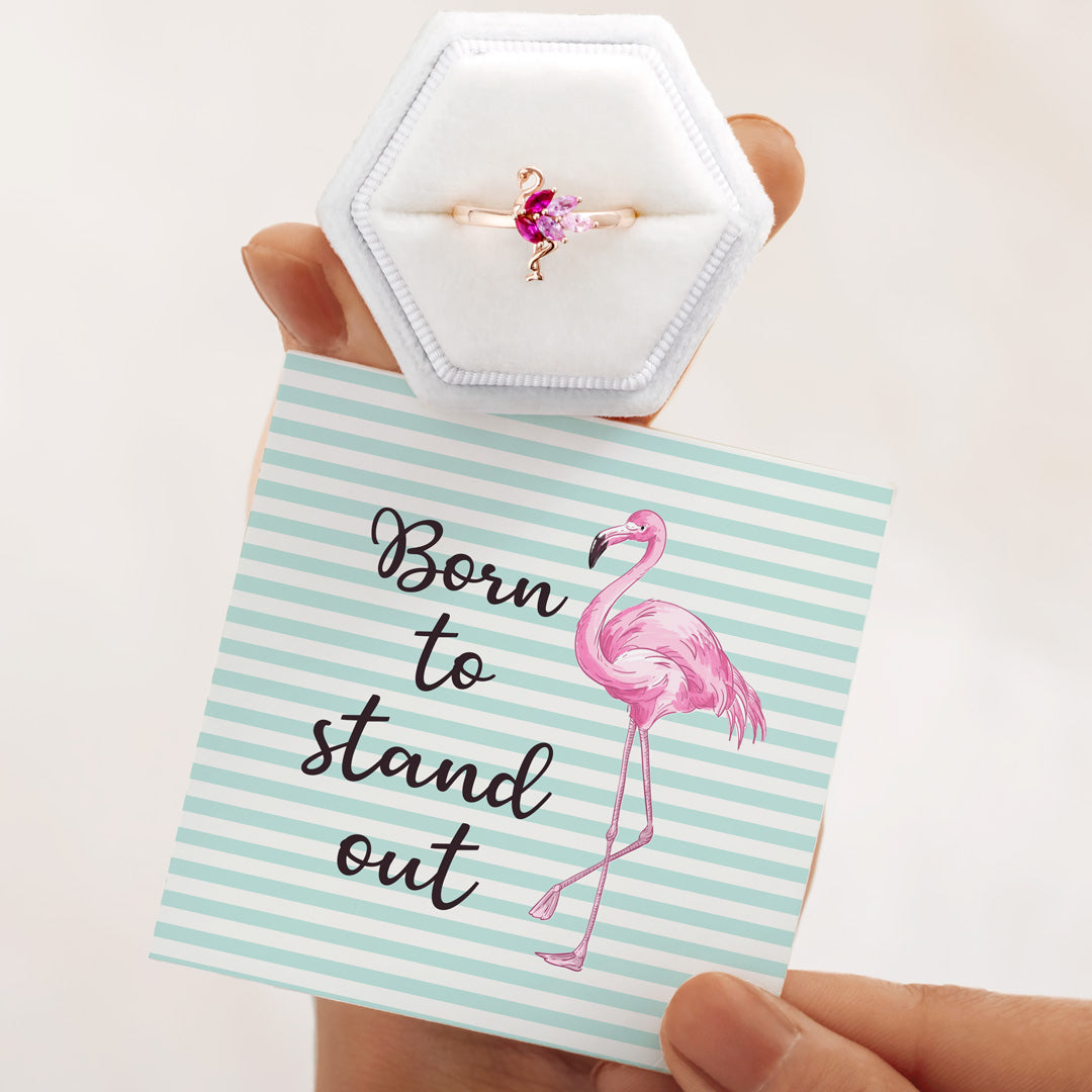 Flamingo Ring S925 - Born To Stand Out
