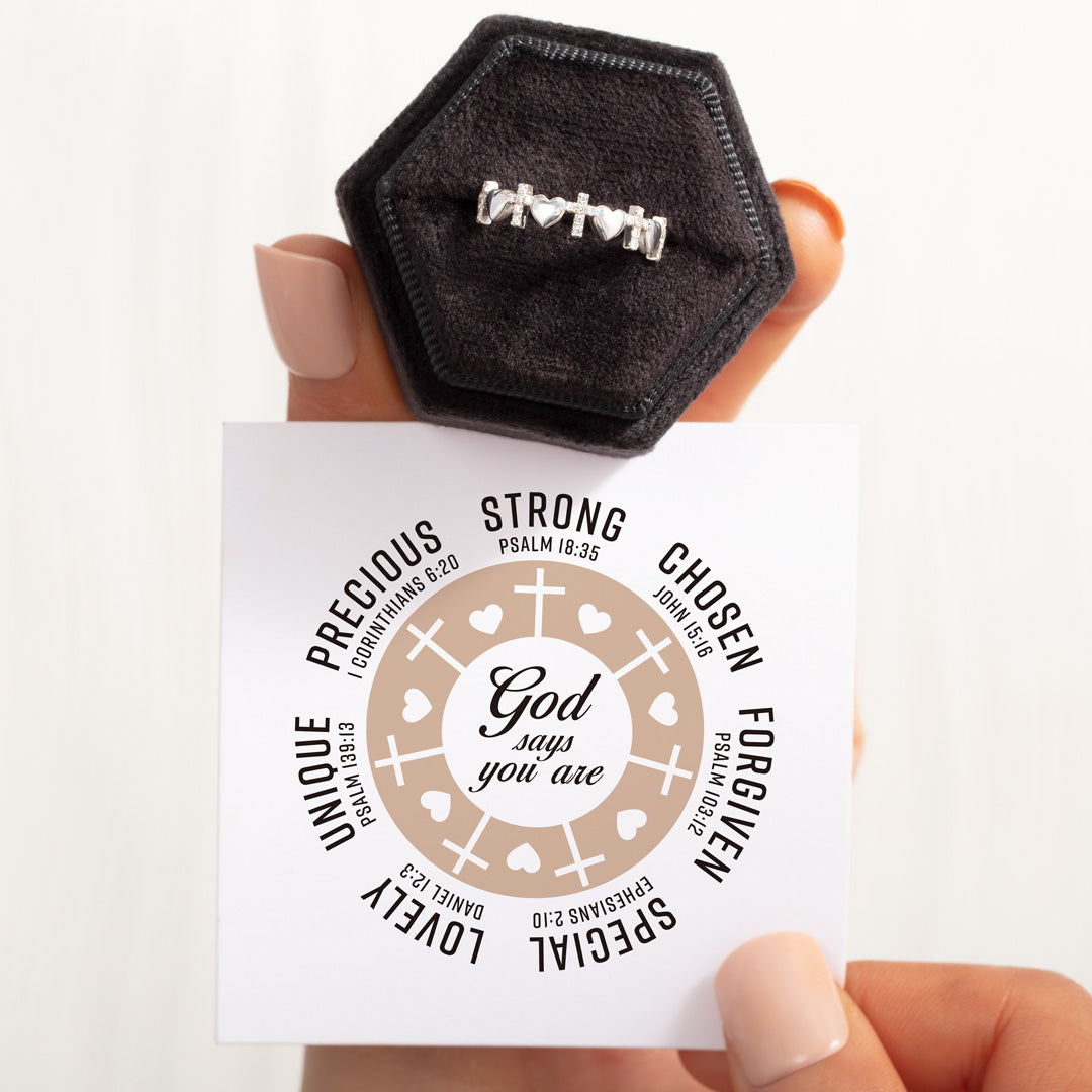 Heart & Cross Band-God Says You Are Strong
