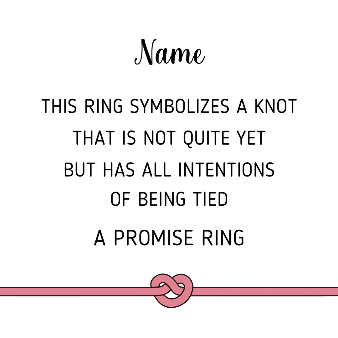 Promise Ring-Personalized Heart Knot
