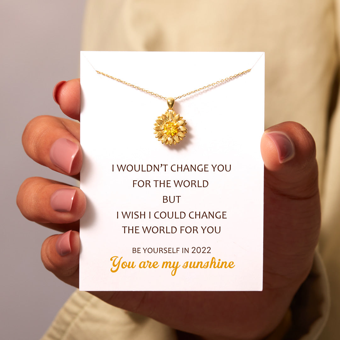 Sunflower Necklace - I Would Change The World For You