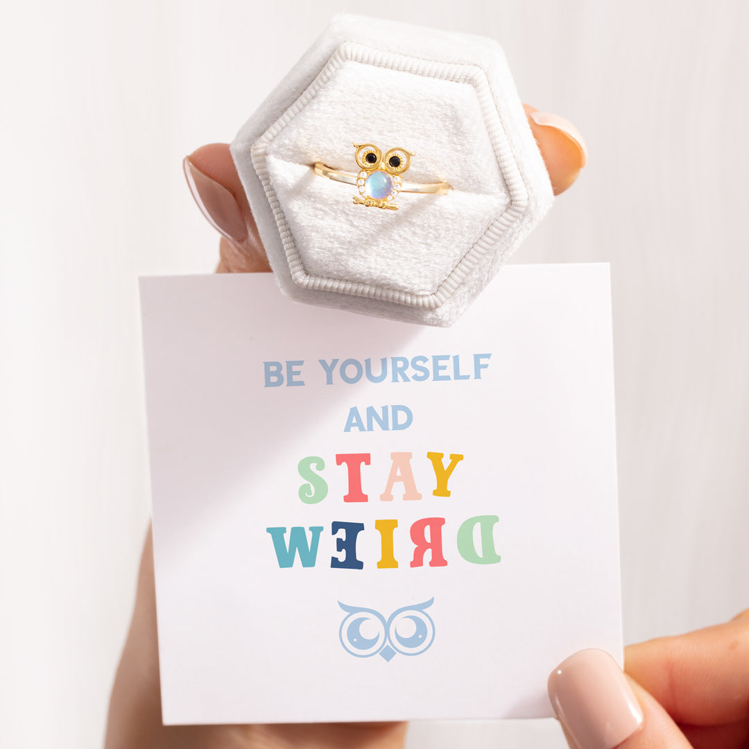 Owl Ring-Be Yourself and Stay Weird