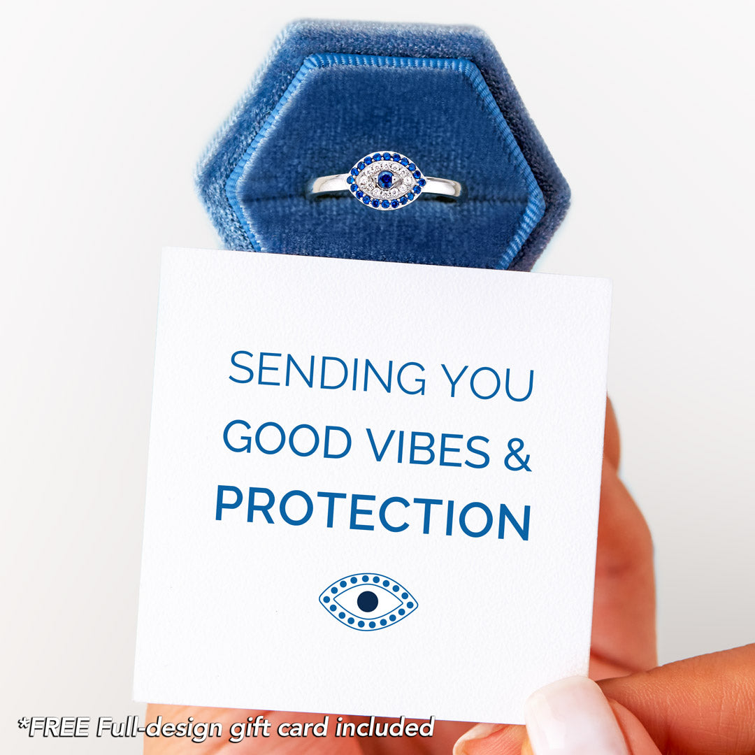 Evil Eye Ring - Sending You Good Vibes and Protection