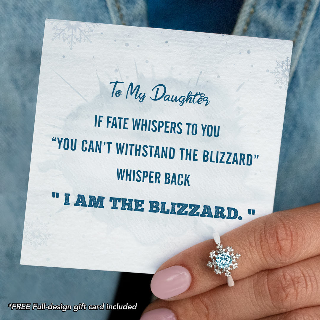 Snowflake Ring-To My Daughter If Fate Whispers to You