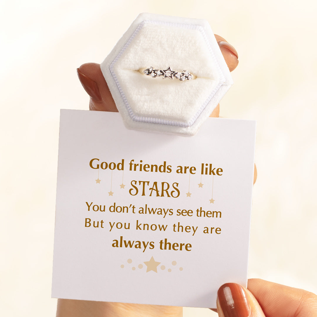 Good Friends Are Like Stars Ring