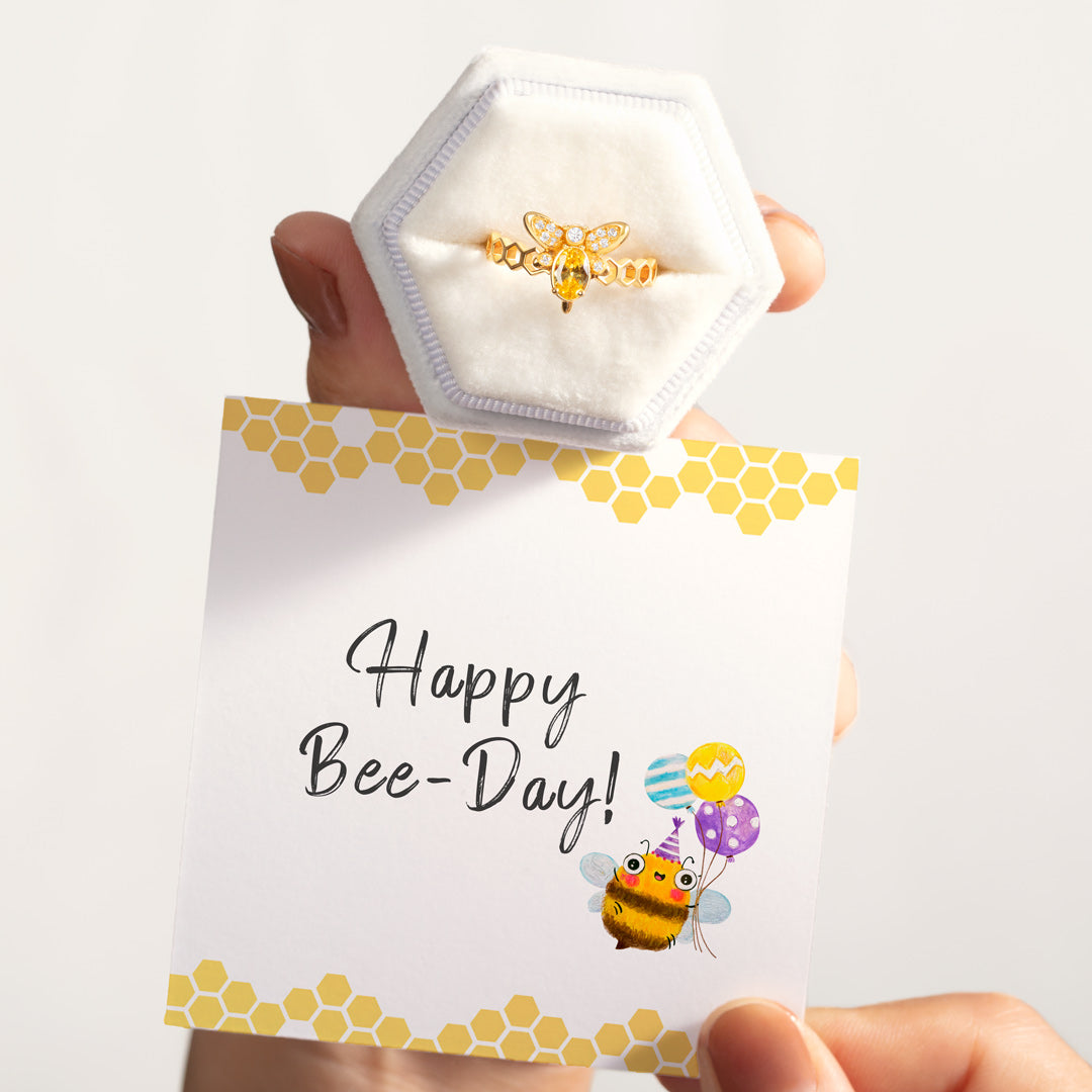 Happy Bee Day Ring