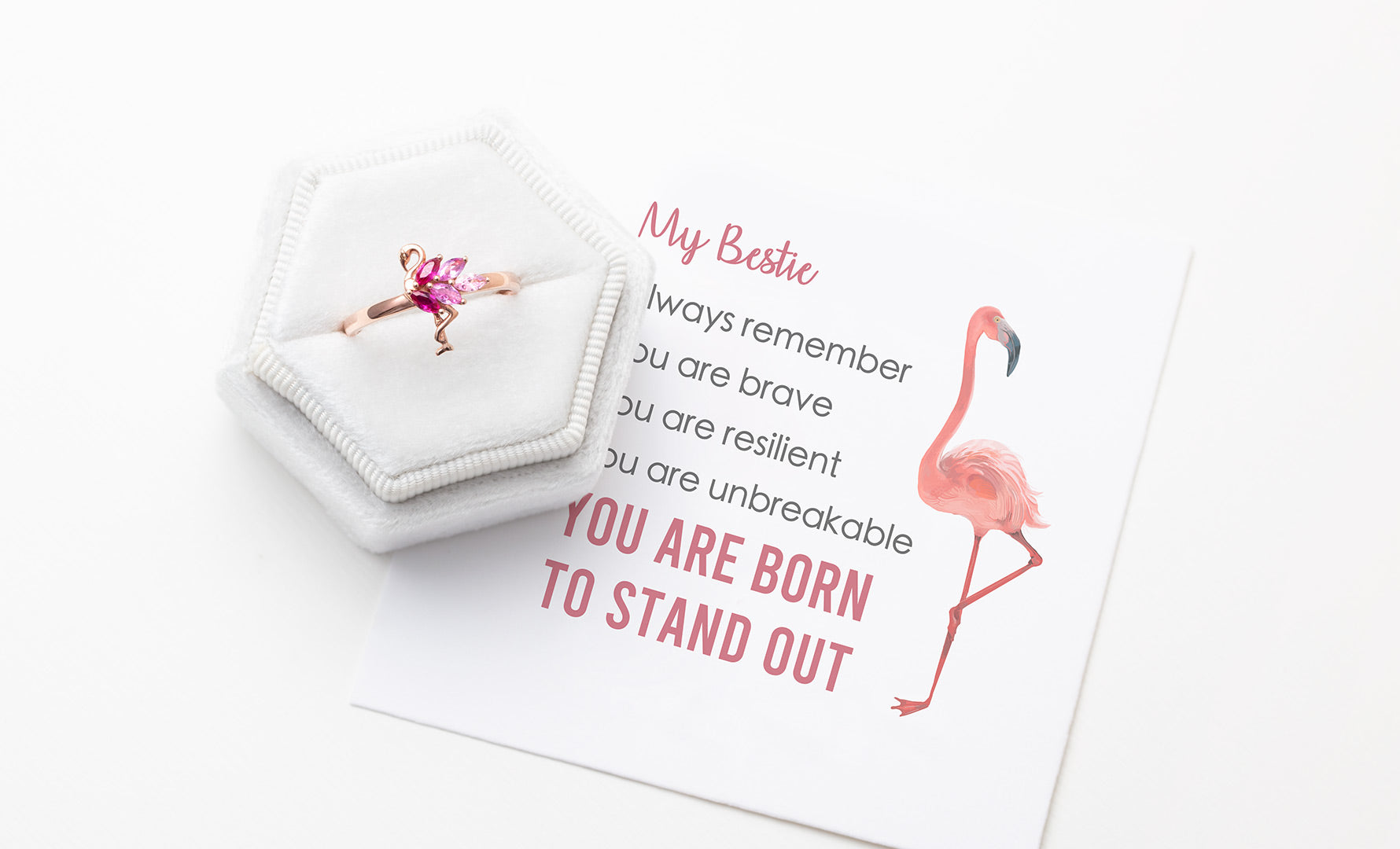 Flamingo Ring - You Are Born To Stand Out