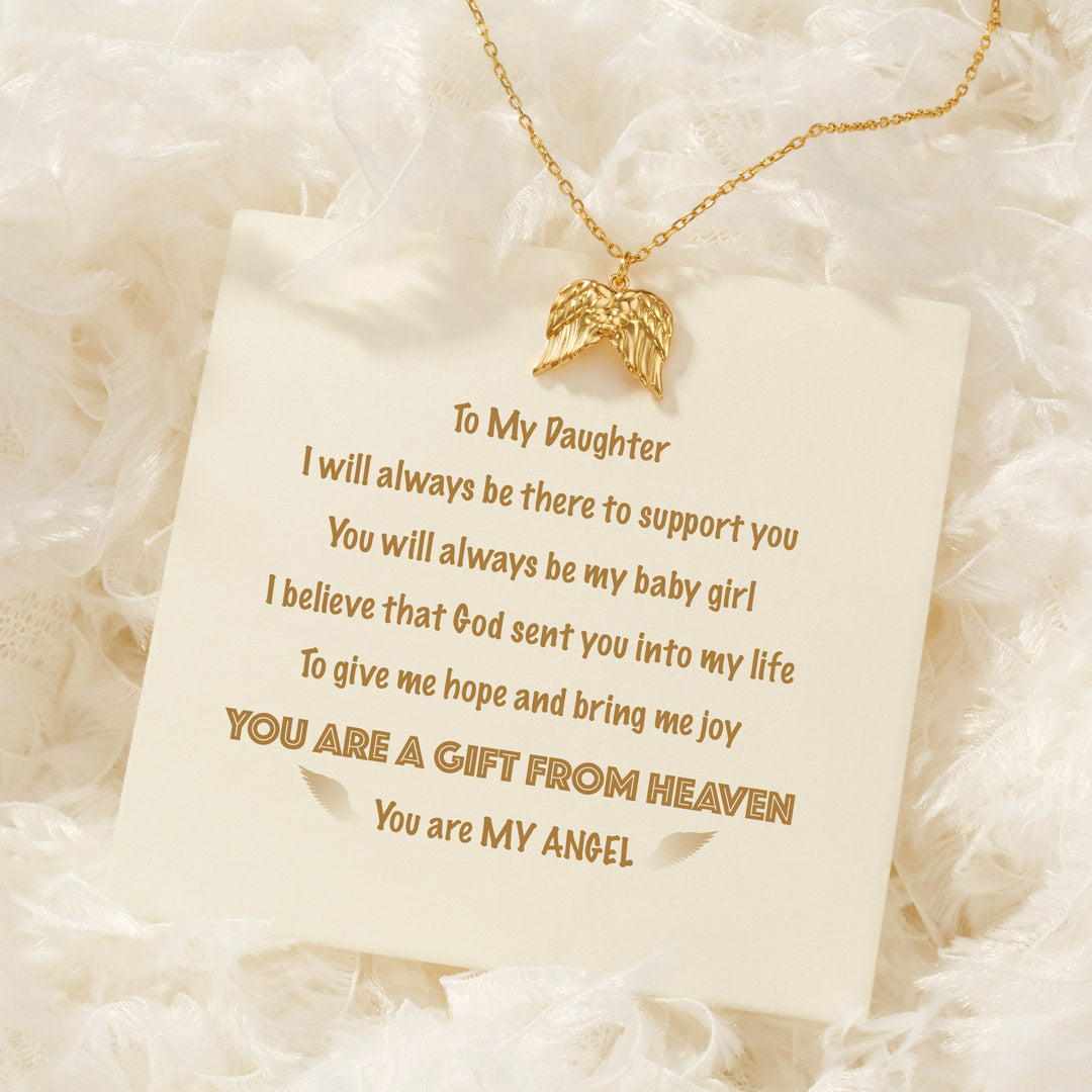 Angel Wings Necklace - You Are A Gift from Heaven